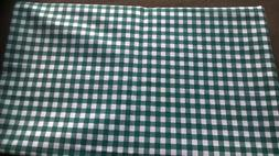 FABRIC Material Sewing Green White Cotton Craft Hobby Quilti