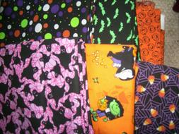 Fabric one quarter 1/4 yard build your own bundle Halloween