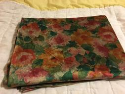 Fabric sewing suede type flowing shades of green/tan/rose. 2