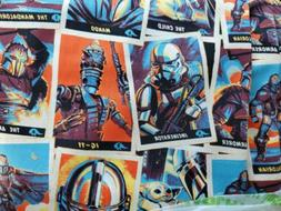FAT QUARTER FABRIC  TRADING CARD STACK  MANDALORIAN  STAR WA