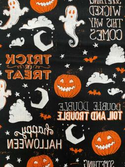 Fat Quarter Halloween 100% COTTON FABRIC Fall Color GHOSTS P