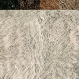 FabricLA Faux Fur Fabric Textile Squares - Naturals for Craf