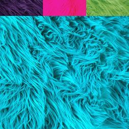FabricLA Faux Fur Fabric Textile Squares - Neon for Crafts,
