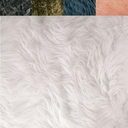 FabricLA Faux Fur Fabric Textile Squares - Neutral for Craft