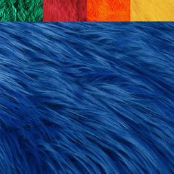 FabricLA Faux Fur Fabric Textile Squares - Primary Colors fo