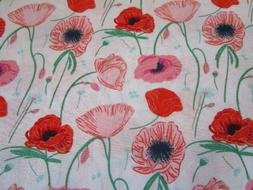 Floral Cotton fabric - Poppy Hill - Flowerette collection- A