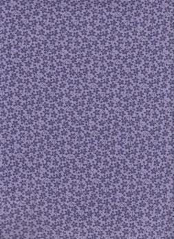 Floral fabric 100% Cotton-1/2 yard Purple calico quilt mask