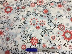 Floral flakes beautiful 100% cotton fabric by the yard