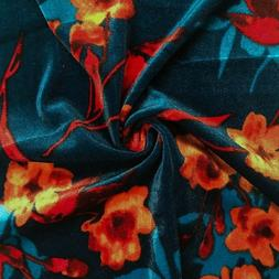 Floral Pattern on Velvet Fabric - Style P-584-700