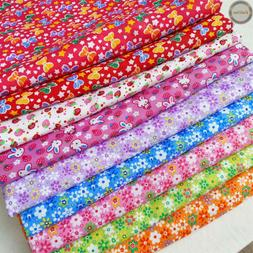 Floral Printed Vintage Fabric Quilting Cotton Crafts Dress M