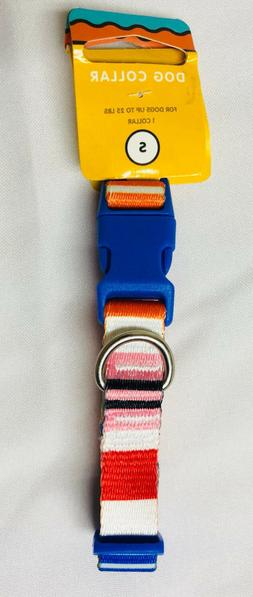 Target Generic Dog Collar SMALL Striped Pattern Multi-Color