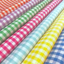 "Gingham 1/8"" Wide Square Fabric 60"" Wide Checkered Plaid Des"