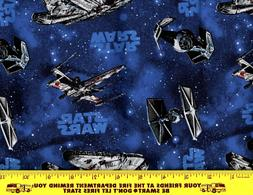 HTF Star Wars Ships Fabric Disney 100% Cotton Face Mask Quil