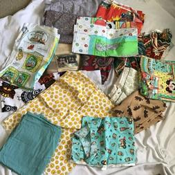 Huge Lot Fabric Sewing Craft Vintage Yards Clothes Doll Quil