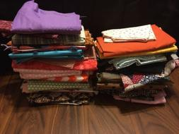 Huge Lot Of Cotton Fabric Arts Crafts DIY Sewing Quilting