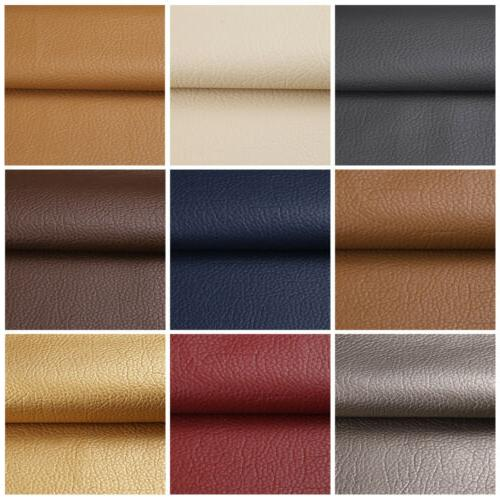 1/3/5 Yards Solid Faux Leather Fabric Upholstery Pleather Ma