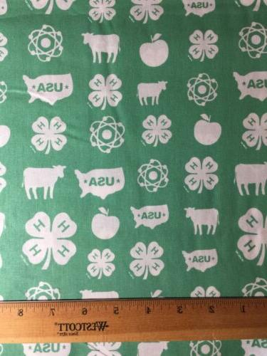 4-H Fabric Cows USA DIY Mask Making/Quilt
