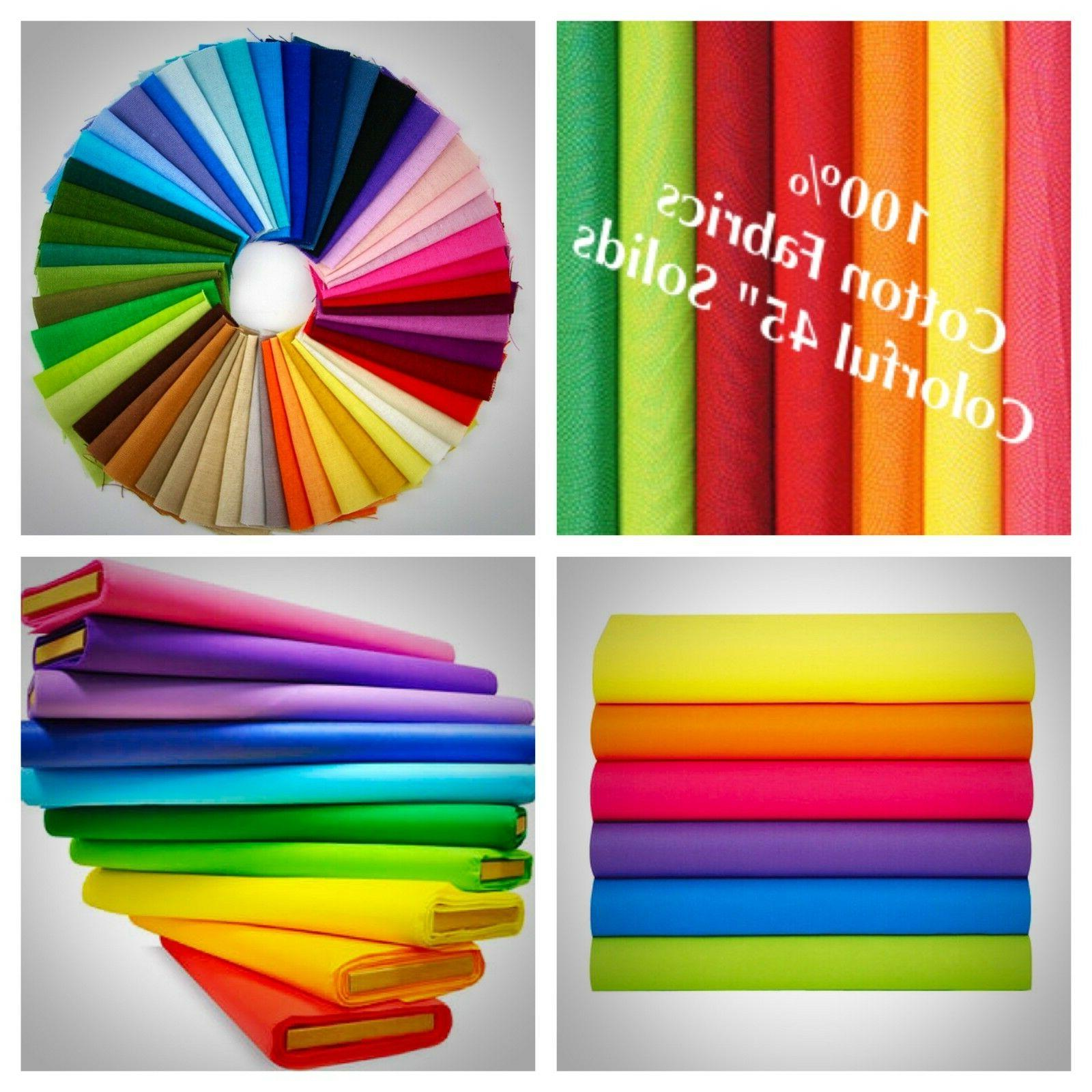 100 percent cotton fabric solid colors 45