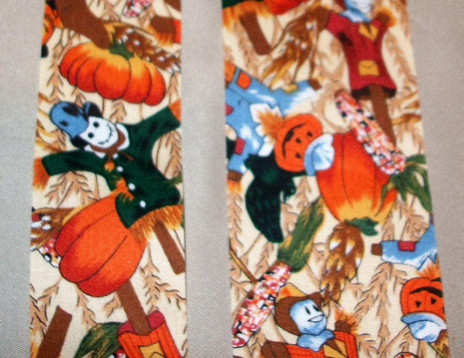 5 yds scarecrows novelty cotton fabric ribbon