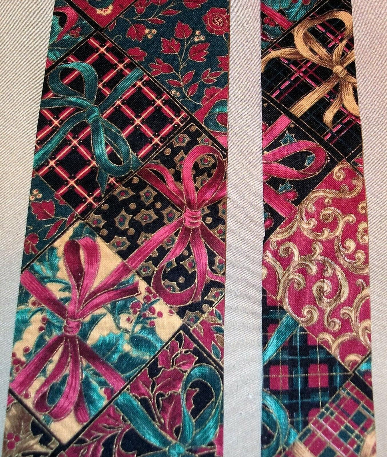 5 yds victorian bows novelty cotton fabric