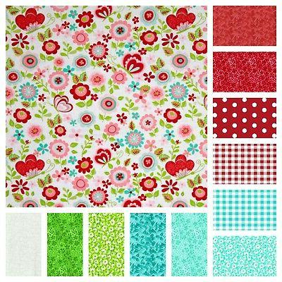 """96 and pre cut charm 5"""" squares 100% cotton fabric quilt"""