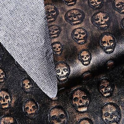 A4 Skull Pattern PU Leather Fabric Fabrics Synthetic Leather