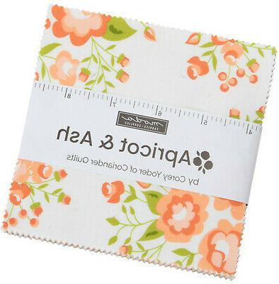apricot and ash moda charm pack 42