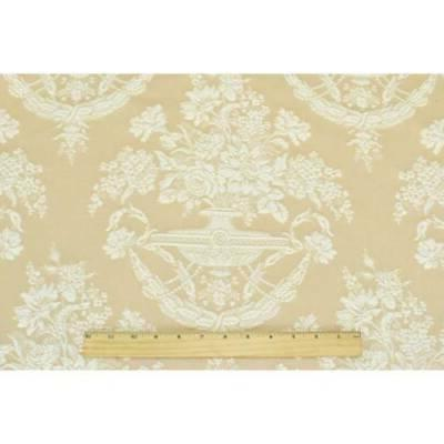 Beige/White Floral Decorating Fabric, The Yard