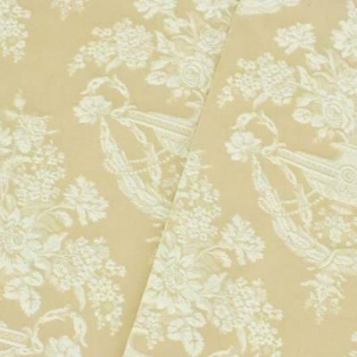 beige white floral jacquard home decorating fabric