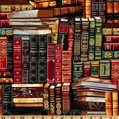 Book Fabric, Library Books, By The Yard, BTY, Timeless Treas