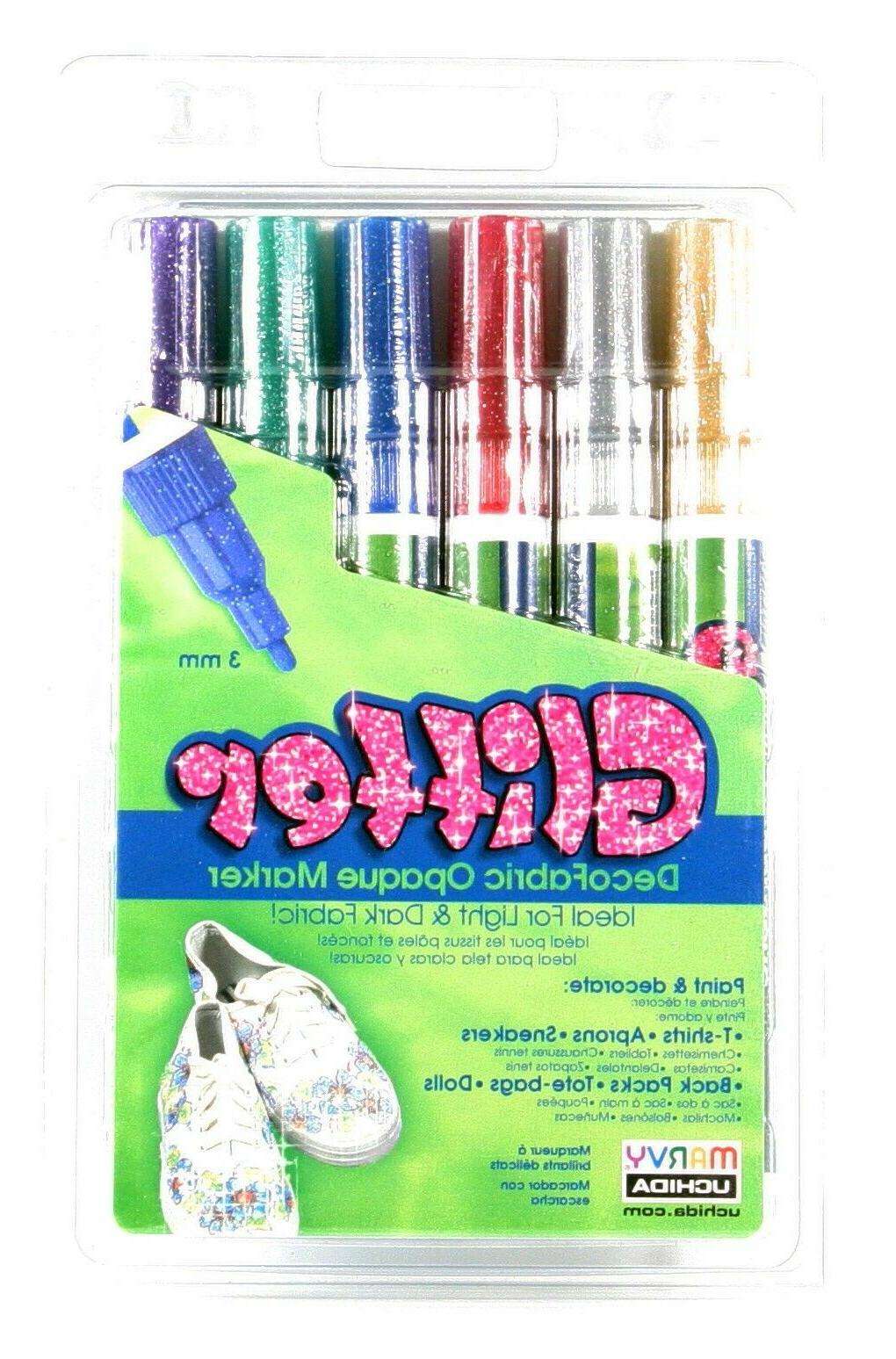 decofabric glitter opaque fabric markers 222 6g