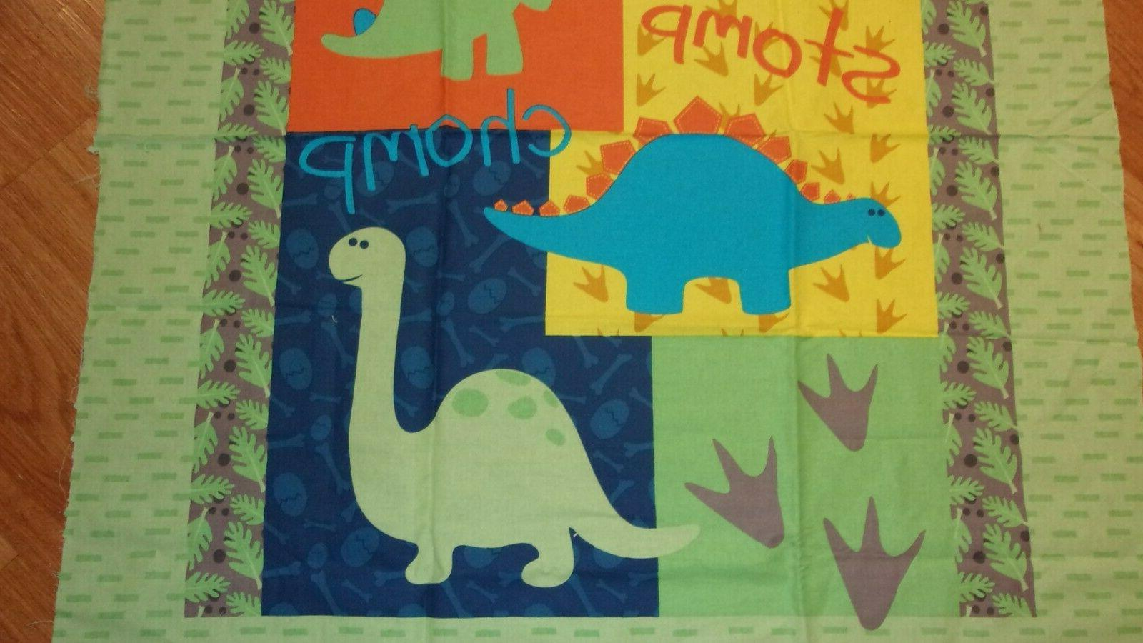 """Dinosaur Sewing Land Springs Creative Products 36"""" 44"""""""
