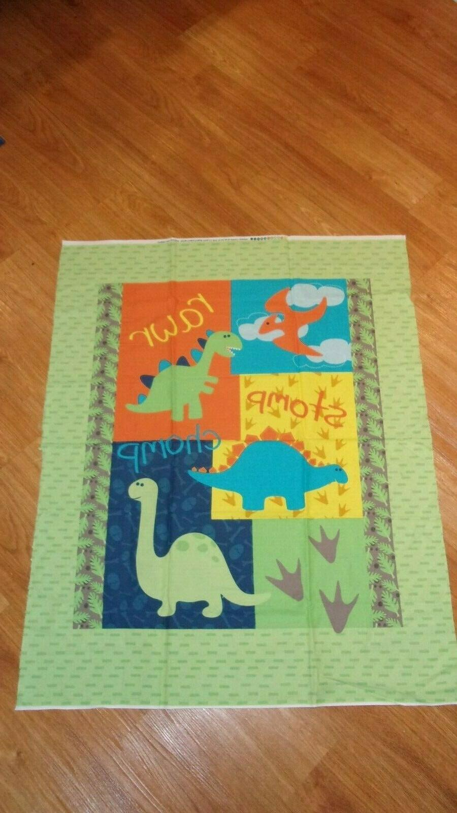 dinosaur sewing panel dino land by products