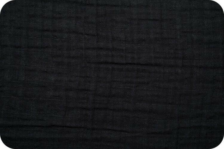 embrace double gauze black solid by