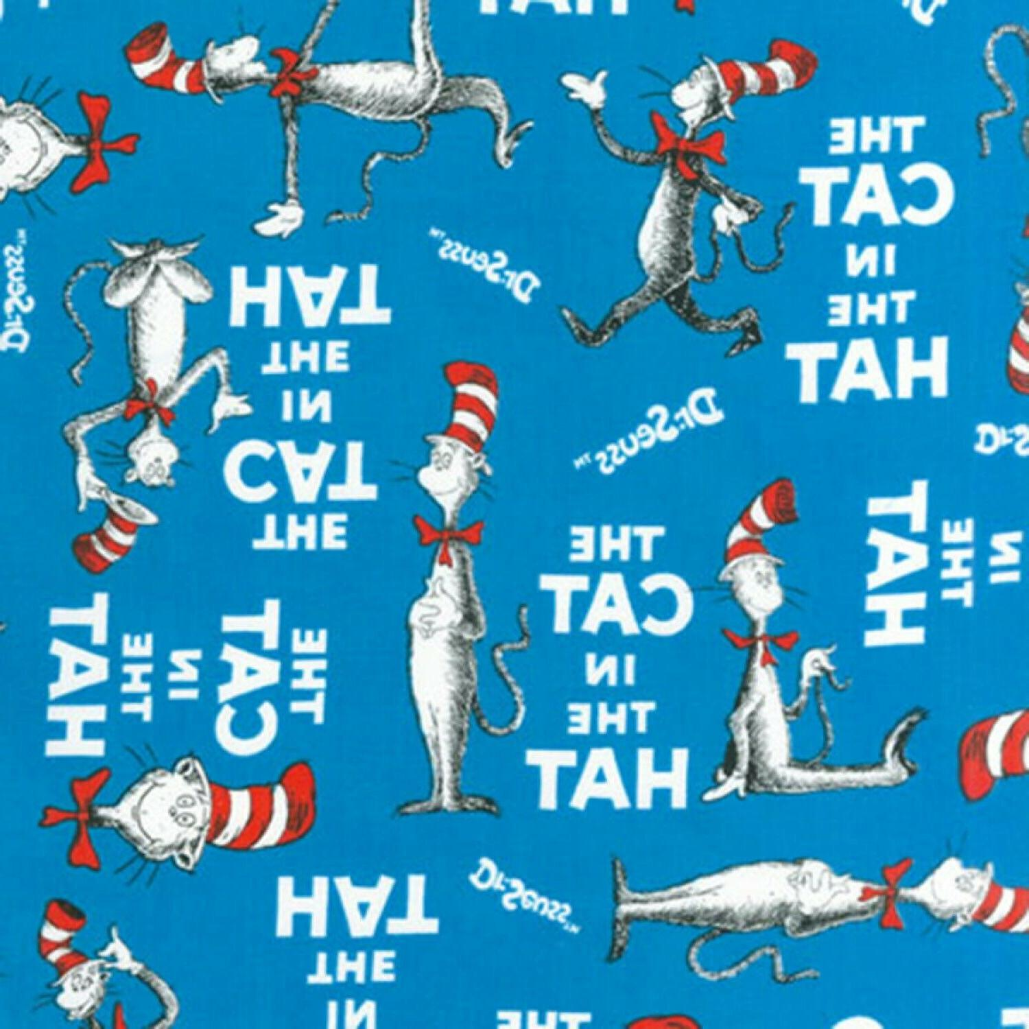 fabric dr seuss cat in the hat