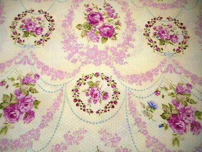 Floral By The Yard Lavender Roses Cotton