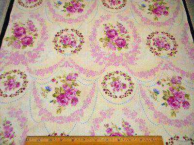 floral fabric by the yard lavender roses