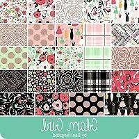 Glam Girl Fabric Strip Rolie Polie Riley Blake - Roll Metallic