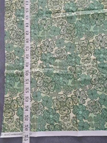 "Green clover Fabric 26"" X"