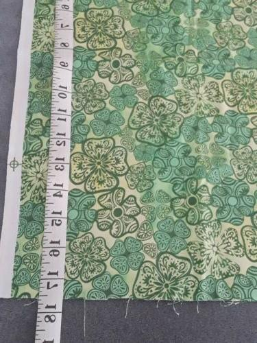 Green clover Fabric X 17.5""