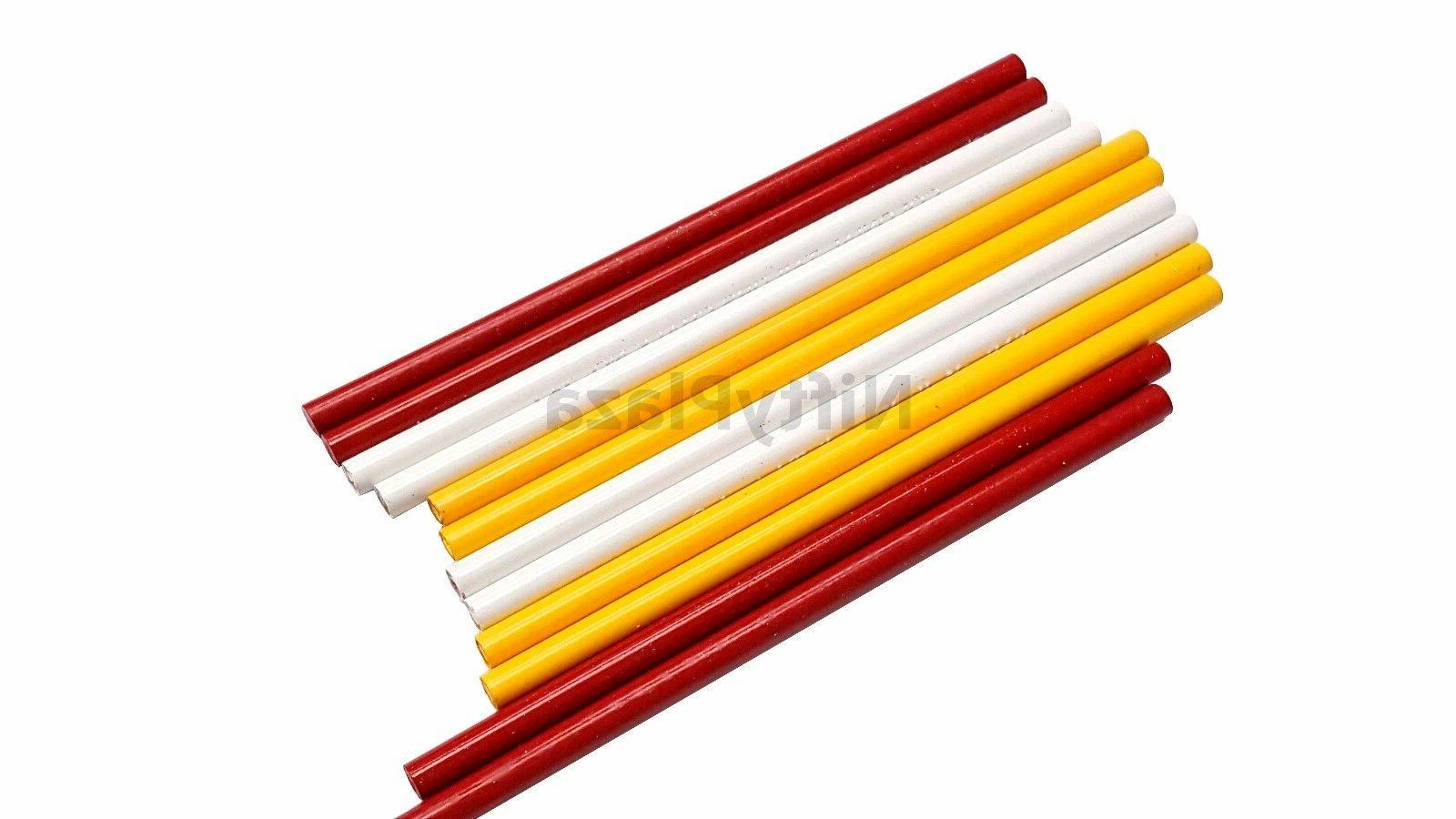 Pack of 3 Chalk Fabric Marking Pencils Sewing Tracing New
