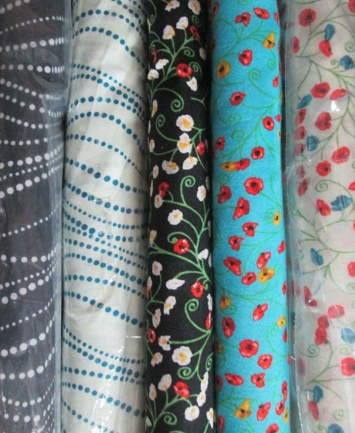 Poppy Passion Fabric 100% Different 1/2