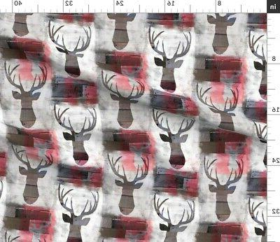 Spray Painted Wood Fabric Printed by Spoonflower BTY