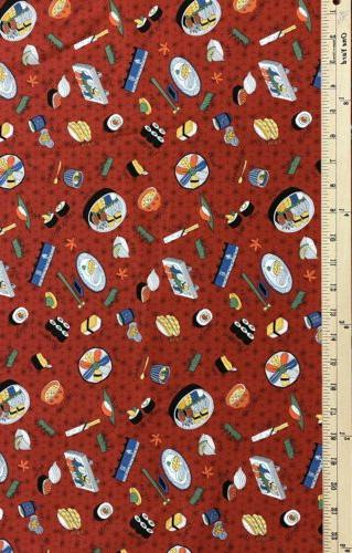 """Sushi 100% Cotton Japanese by the 18""""x44"""""""