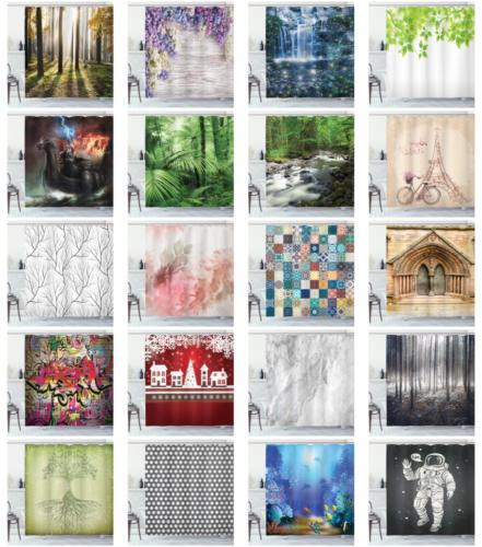 water resistant shower curtain cloth fabric set