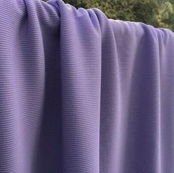 """Lavender Synthetic Rib Knit Fabric 59"""" width Sold by the Yar"""