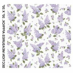 Lilacs in Bloom~Medium Lilacs/White Wave Cotton Fabric by Be