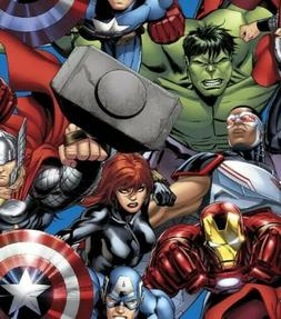 Marvel Avengers Cotton Woven Fabric by the 1/2 Yard