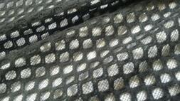 "Mesh Jacquard Knit fabric, Black color ,58"" width, by the ya"