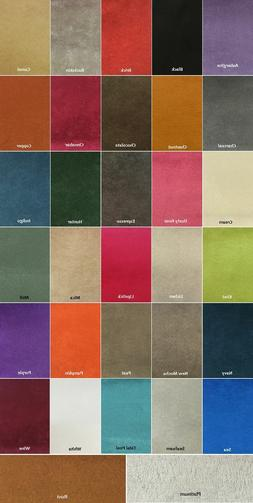 """Microfiber Suede - 8 oz Upholstery Fabric in 30 Colors 60"""" W"""